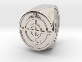 Target - Signet Ring in Rhodium Plated: 6 / 51.5