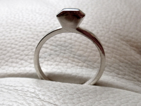 Diamond Ring (Size 7.25~7.75) in Premium Silver