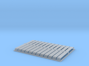 HO 24x10ft Bullnose Corrugated Iron Sheets in Smooth Fine Detail Plastic