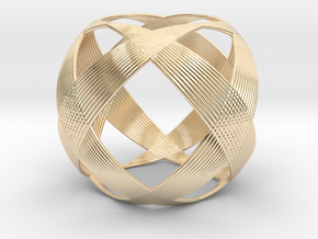0403 Spherical Cuboctahedron (d=6cm) #003 in 14k Gold Plated Brass
