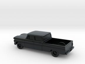 1/87 1960-61 Chevrolet C10 Fleetside Crew Cab in Black Hi-Def Acrylate