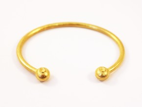 Blueberry Bracelet for the foodie in Polished Gold Steel