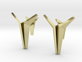 YOUNIVERSAL Origami Cufflinks in 18K Gold Plated