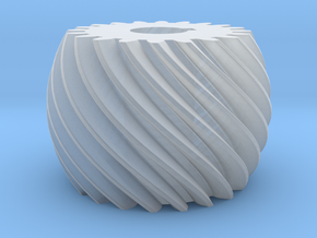 Convex helical gear in Smooth Fine Detail Plastic