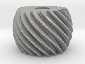 Convex helical gear in Aluminum