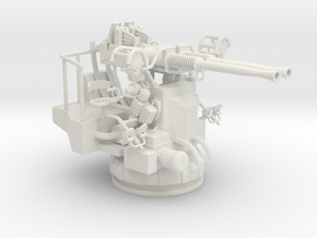 Best Cost 1/32 40mm Bofors Twin Mount in White Natural Versatile Plastic