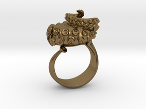 Octopus Ring  in Natural Bronze: 12 / 66.5