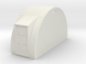 N-87-complete-nissen-hut-end-brick-2-door-16-36-1a in White Natural Versatile Plastic