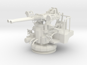 Best Cost 1/35 40mm Bofors Twin Mount in White Natural Versatile Plastic