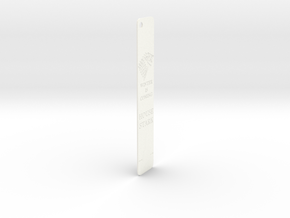 Stark Bookmark in White Strong & Flexible Polished: Medium