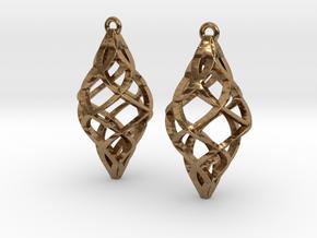 Capriccio Earrings in Natural Brass