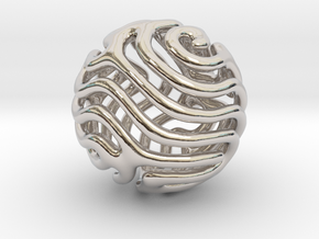 Reaction diffusion Pendant/Earring in Platinum