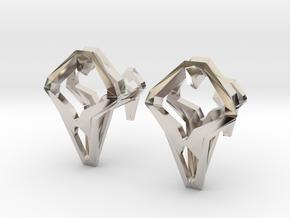 HEAD TO HEAD Unic, Cufflinks in Rhodium Plated Brass