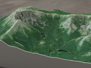 Mt. Katahdin, Maine, USA, 1:25000 Explorer in Full Color Sandstone