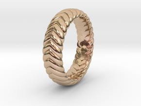 V Ring3  in 14k Rose Gold Plated Brass: 4.5 / 47.75