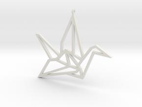 Crane Pendant L in White Natural Versatile Plastic