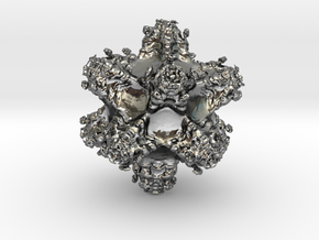 Fractal Berth1522 in Fine Detail Polished Silver
