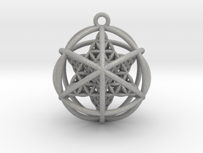 Flower of Life Planetary Merkaba in Aluminum