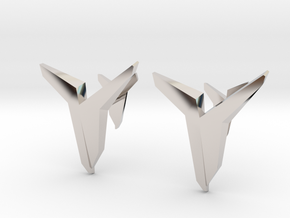 YOUNIVERSAL Asymetric, Cufflinks in Platinum