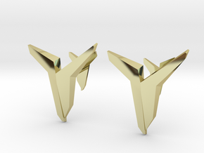 YOUNIVERSAL Asymetric, Cufflinks in 18K Gold Plated