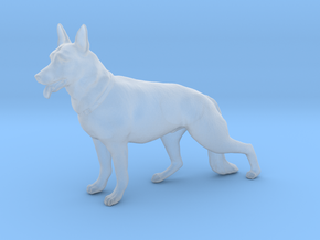 German Shepard (1/24 scale) in Smoothest Fine Detail Plastic