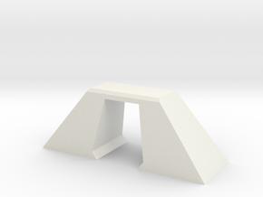 N Scale Bridge Modern Single Small 1:160 in White Natural Versatile Plastic