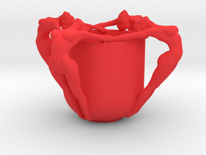 SEXY CUP IN 12CM 001 in Red Strong & Flexible Polished