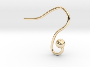 Earring hook round in 14k Gold Plated Brass