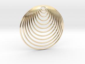 Splash in 14k Gold Plated Brass