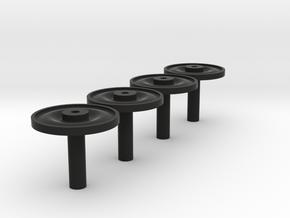 Radscheibennaben in Black Natural Versatile Plastic
