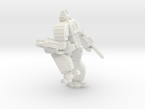 Hoplite pose 3 in White Natural Versatile Plastic