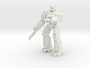 Hoplite pose 4 in White Natural Versatile Plastic