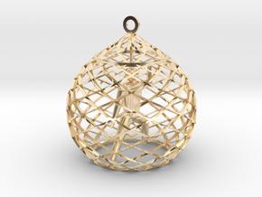 Ornament - Mountain Block in 14K Yellow Gold