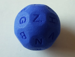 D26 Alphabetical Sphere Dice for Impact! Miniature in Blue Processed Versatile Plastic