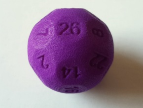 D26 Sphere Dice for Impact! Miniatures in Purple Processed Versatile Plastic