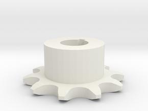 Chain sprocket ISO 05B-1 P8 Z10 in White Natural Versatile Plastic