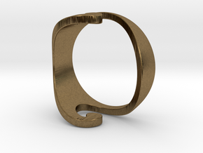 Wave Ring - Air (purchase with Wave Ring - Water) in Natural Bronze: 10 / 61.5