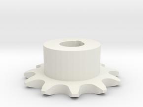 Chain sprocket ISO 05B-1 P8 Z11 in White Natural Versatile Plastic