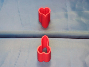 Ambiguous Heart Illusion  in Red Strong & Flexible Polished