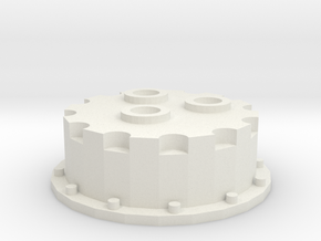 1/16 Minneapolis and Oliver Front Hub Fixed in White Natural Versatile Plastic