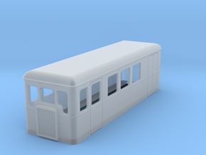 TTn3 single ended railcar with parcel section in Frosted Ultra Detail
