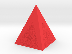 Stand Sith Holocron internal part in Red Processed Versatile Plastic