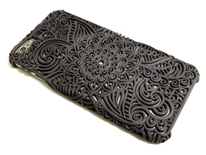 Neisha - Floral Case for Iphone 6/6S Plus in Black Strong & Flexible