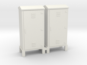 Electrical Cabinet With Legs 1-48 Scale   in White Natural Versatile Plastic: 1:48 - O