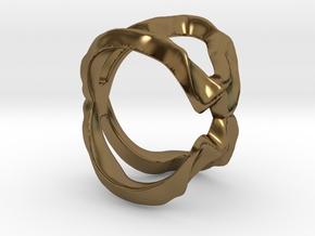 Mind generated ring - my idea of love in Polished Bronze: Small