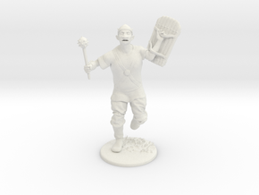 Goblin Miniature in White Natural Versatile Plastic: 1:60.96
