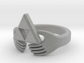 Triforce Claddagh Ring in Metallic Plastic: 4 / 46.5