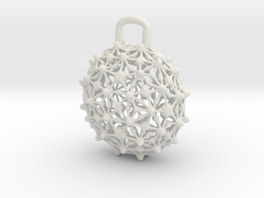 Pendant1t in White Natural Versatile Plastic