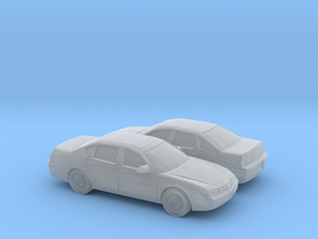 1/160 2X 1999-04 Chevrolet Impala in Smooth Fine Detail Plastic