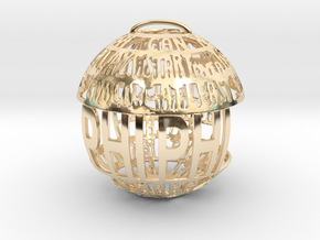 Phi Phi Quotaball in 14k Gold Plated Brass